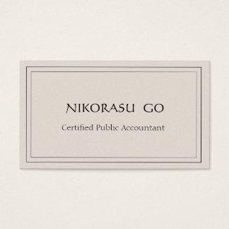 a certified public accountant BUSINESSCARD 名刺