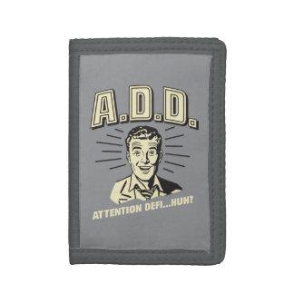 A.D.D.: 注意Defi…ハァッか。 ナイロン三つ折りウォレット