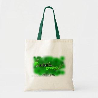 a.d.h.d. 緑のバッグ トートバッグ