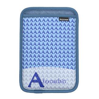 A - Falckのアルファベット(青い) iPad Miniスリーブ