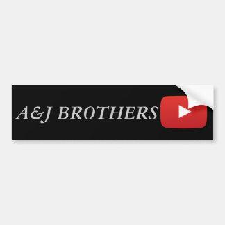 a&jの兄弟youtube バンパーステッカー