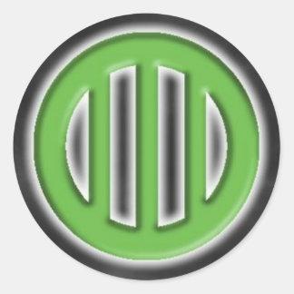 A.J. 打楽器のステッカー ラウンドシール