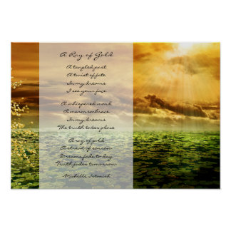 A Ray of Gold ~ Dreams of Love Poem ポスター