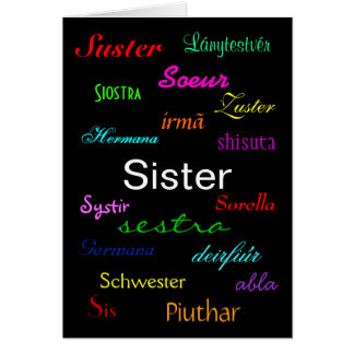 """A Sister's Birthday"" Card - Customizable カード"