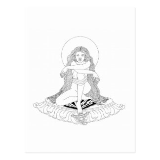 A-yé Khandroラインスケッチ[郵便はがき] ポストカード