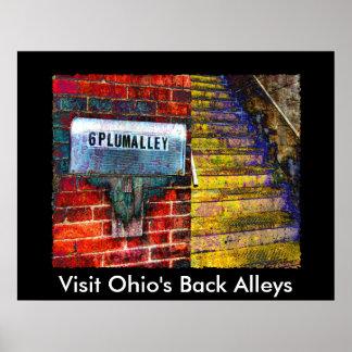 AA137Pの訪問のオハイオ州の背部細道 ポスター