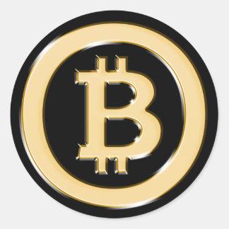 AA568 Bitcoin作の金ゴールド記号 ラウンドシール