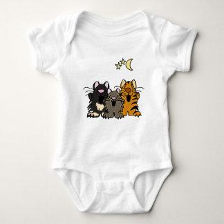 AA-歌う猫ベビーの用品類 ベビーボディスーツ
