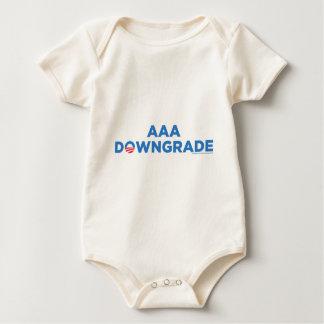 AAAのダウングレード ベビーボディスーツ