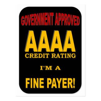 AAAAの信用格付け ポストカード