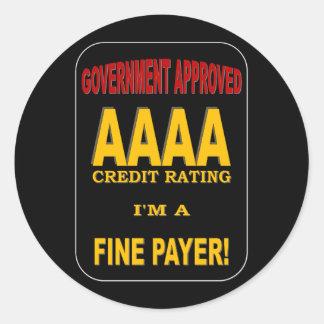 AAAAの信用格付け ラウンドシール