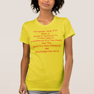 AAnimalが苦痛に…ある時するべき慈悲深い事 Tシャツ