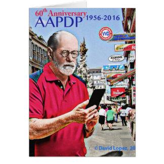 AAPDP第60記念日の挨拶状 カード
