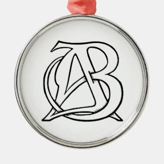 ABのモノグラム メタルオーナメント
