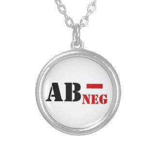 AB - NEGの血液型 シルバープレートネックレス