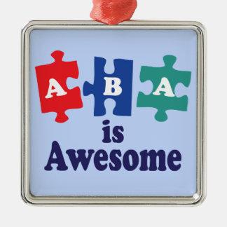 ABAのセラピーは素晴らしいです メタルオーナメント