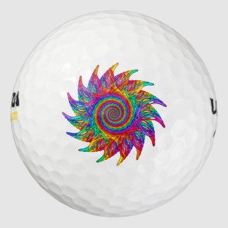 Abastractの虹のモチーフのゴルフ・ボール ゴルフボール