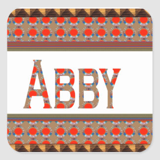 ABBYの名前のファッションのボーダーエレガントな低価格のギフトJO スクエアシール