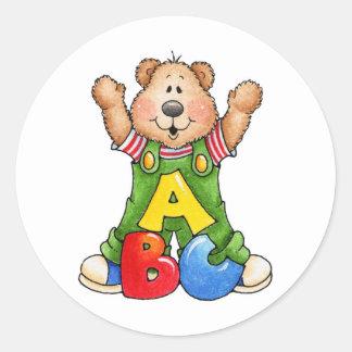 ABCのテディー・ベア ラウンドシール