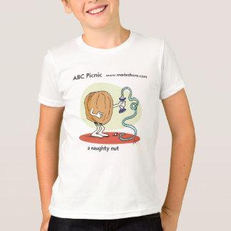 ABCのピクニックいけないナットのティー Tシャツ
