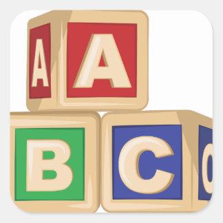 ABCのブロック スクエアシール
