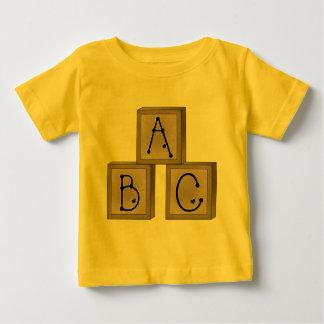 ABCのブロック ベビーTシャツ