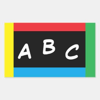 ABCの原色のステッカー2を着色して下さい 長方形シール