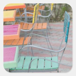 ABCの島、アルバ、Palm Beach: カラフルなカフェ スクエアシール