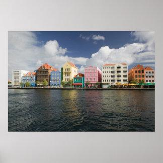ABCの島、クラサオ島、Willemstad: Harborfront ポスター