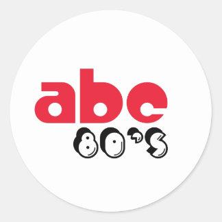 ABCの80年代 ラウンドシール