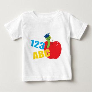 ABCみみず ベビーTシャツ