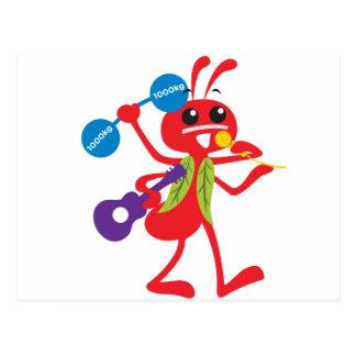 ABC動物のアダムの蟻 ポストカード