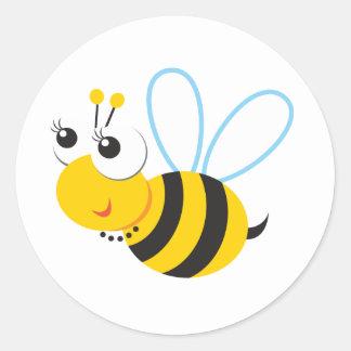 ABC動物のベティの蜂 ラウンドシール