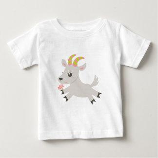 ABC動物の口達者なヤギ ベビーTシャツ