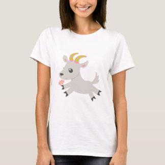 ABC動物の口達者なヤギ Tシャツ