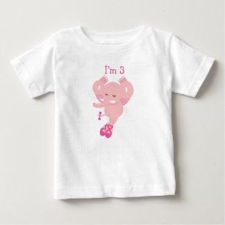 ABC動物の誕生日のTシャツの第3誕生日 ベビーTシャツ