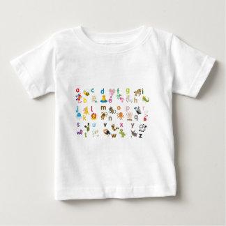 ABC動物のTシャツ ベビーTシャツ