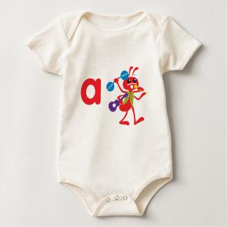ABC動物-アダムの蟻 ベビーボディスーツ