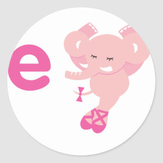 ABC動物- Ellie象 ラウンドシール