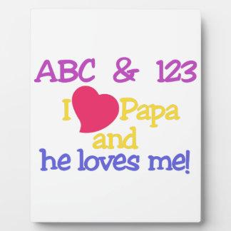 ABC及び123のIのパパ及び彼は私を愛します! フォトプラーク
