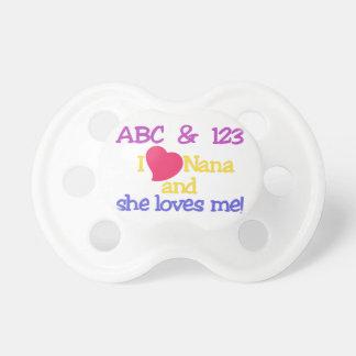 ABC及び123 Iナナおよび彼女は私を愛します! おしゃぶり