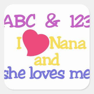 ABC及び123 Iナナおよび彼女は私を愛します! スクエアシール