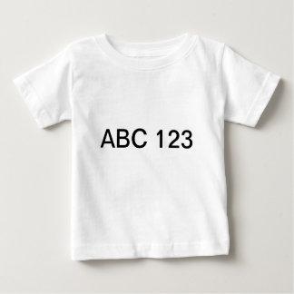 abc 123 ベビーTシャツ