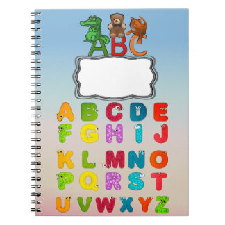 ABC Animal Picture Alphabet Letters ノートブック