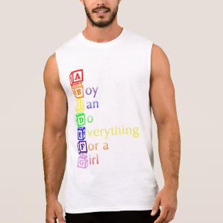 ABCDEFGの(男の子は女の子のためのすべてをすることができます)ティー 袖なしシャツ