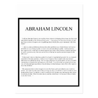 Abeの正直な互い違いのレイアウト ポストカード