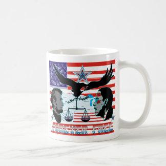 Abeオバマ永久に自由セット1AB コーヒーマグカップ