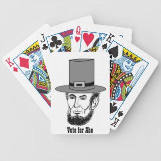 Abeリンカーンのトランプのポーカーカード!!! バイスクルトランプ