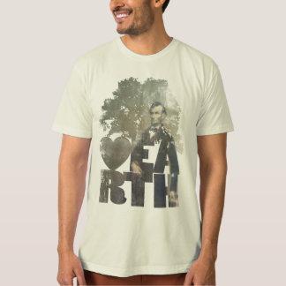Abeリンカーンの地球のTシャツ Tシャツ