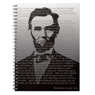 AbeリンカーンGettysburgの住所 ノートブック